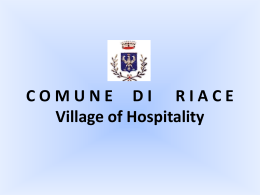 COMUNE DI RIACE Local Authority