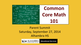 09-27_ Parent Summit_ CCSS Math