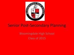 Senior Post-Secondary Planning