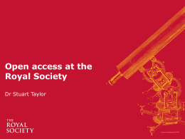 Open access at the Royal Society