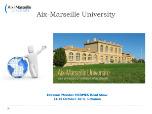 Presentation made by Aix-Marseille University - Tethys