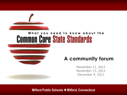 Common Core - Milford Public Schools