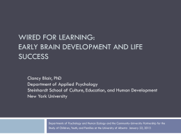 Early Brain Development and Life Success