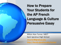 How to Prepare Your Students for the AP French Language