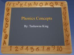Phonics Concepts - PBworks