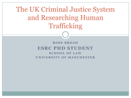 Human Trafficking and the UK Criminal Justice System
