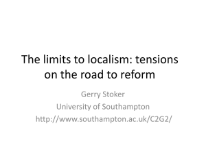 The limits to localism: cynicism in response to the UK Coalition