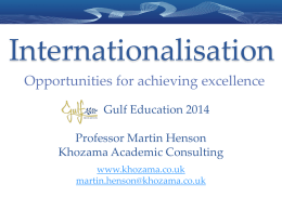 Internationalisation - Gulf Education Conferences