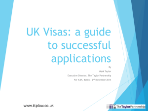 UK Visas: a guide to successful applications