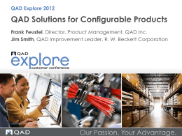 What are QAD Configured Products?
