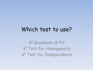 Which test to use?