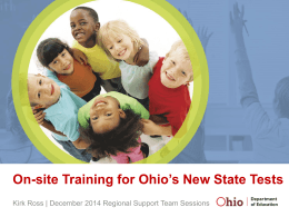Key Contact for Ohio`s New State Tests in Science and Social Studies
