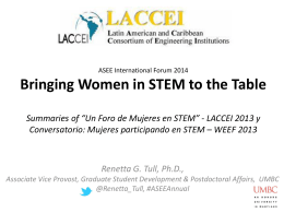 Women in STEM: Outcomes from *Un Foro de Mujeres en STEM* de la