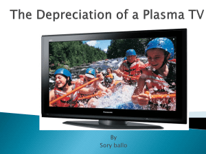 The Depreciation of a plasma tv