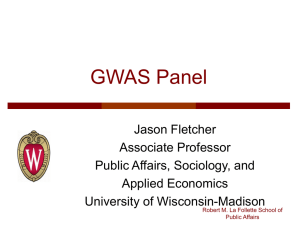 Slides GWAS Panel Jason Fletcher MIP