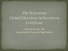 The Wisconsin Global Education Achievement Certificate
