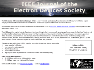 IEEE Journal of Electron Devices Society (J-EDS)