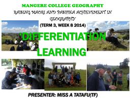 Alisis - TF Differentiation Presentation 2014