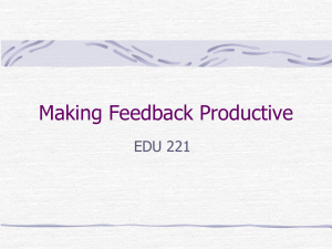 Teaching by Giving Productive Feedback