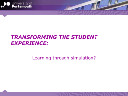 Transforming the student experience learning through