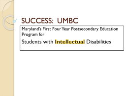SUCCESS: UMBC - Maryland Transitioning Youth