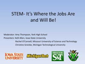 STEM—It`s Where the Jobs Are and Will Be!