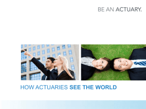 RISK - Be an Actuary