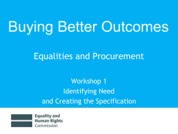 powerpoint - Equality and Human Rights Commission