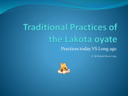 Traditional Practices of the Lakota oyate (2)