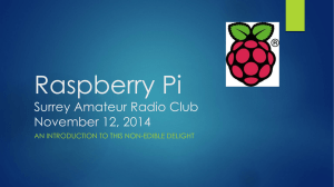 Presentation about Raspberry Pi