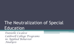 Chapter 13 Neutralization of special education