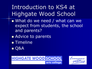 here - Highgate Wood School