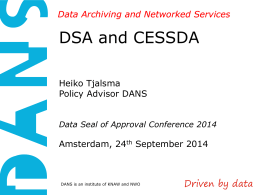 CESSDA - Data Seal of Approval