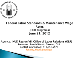 Maintenance Wage Determination Process via HUD 4750 Form