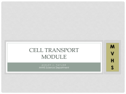 Cell Transport Module