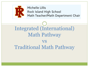 Integrated vs. Traditional Pathway