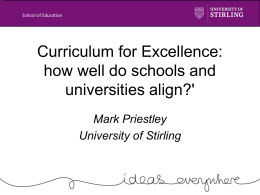 University Engagement with Curriculum for Excellence