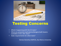 Common Core and Testing