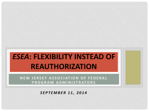 ESEA: Flexibility instead of Reauthorization