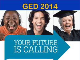 GED 2014 - Adult Basic Skills Professional Development