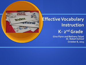 Effective Vocabulary Instruction K