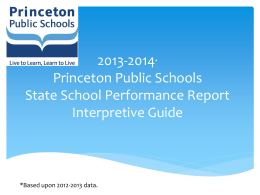 Princeton High School State Report Card Interpretive
