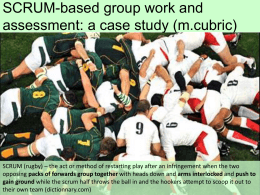 SCRUM-based group work and assessment: a case study