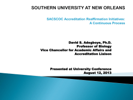Fall University Conference - Southern University New Orleans