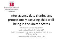 Inter-agency data sharing and protection: Measuring child well