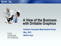 A High-level View of the Business with Drillable Graphics