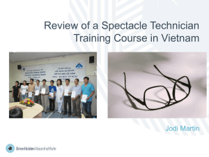 Jodi Martin_Review of a spectacle technician training course in