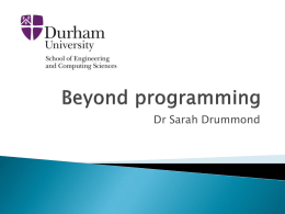 Beyond Programming - Sarah Drummond