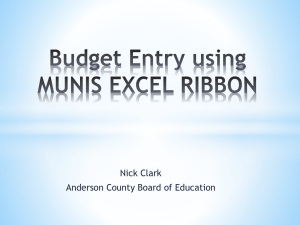 Budget Entry