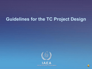 Guidelines for the TC Project Design - PCMF